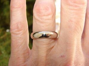 14K WHITE GOLD WEDDING BAND RING 4.9 GRAMS