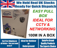 Nouvelle boîte de bobine de 100 m CAT5e CCA gris intérieur ou extérieur Câble réseau ethernet utp
