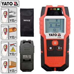 YATO Pro Leitungssucher Ortungsgerät Multidetektor Metall Holz Strom Leitungen