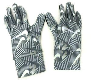 Nike Printed Lightweight Tech Running Gloves Women's Medium - White/Smoke Grey