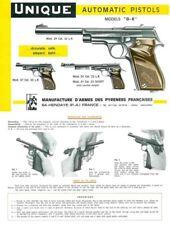 Unique Model D-E Pistols-Manufacture d'Armes des Pyrennes
