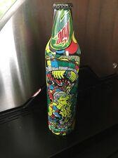 2007 Mountain Dew Green Label Art Aluminum Bottle Soda Can Tundra Full NEW