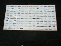 "Large Poster Print of 125 ""Ships of the Civil War"" All Identified & Color Image"