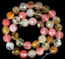 "8mm Faceted Watermelon Tourmaline Round Gemstone loose Beads 15"" LL006"