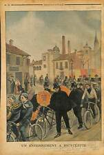 FUNERAL Bicycle FUNERAILLES CERCEUIL VELO TANDEM ROBERTO SCARDOVI  IMOLA 1902