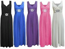 Unbranded V Neck Patternless Maxi Dresses for Women