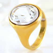 Ring in 585/- Gelbgold mit 1 Aquamarin ca 7,50 ct - Gr. 54