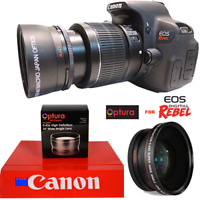 OPTURA Photo® DEDICATED WIDE ANGLE MACRO LENS FOR CANON EOS REBEL SL1 1100D T6
