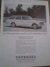 Vauxhall Cresta Estate old car advert 1964 ref AY