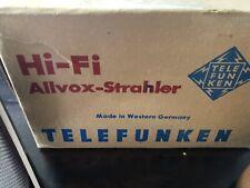 Vintage Pair of Allvox-Strahler German Telefunken Bookshelf Speakers