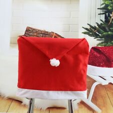 Party Christmas Decoration Table Red Hat Decor Dinner Chair Cover Clause Cap
