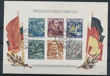 DDR Friedrich-Engels-Jahr 1955 Michel Block 13 geprüft (S15252)
