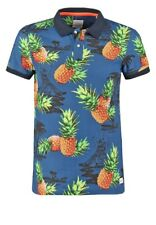 Men T-Shirts Edc pineapple print By Esprit Polo Shirt size Small