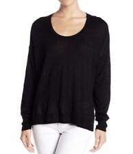 NWT $79 MADEWELL Black Southstar Wool Blend Pullover Sweater Size XS