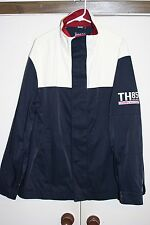 Tommy Hilfiger 03' TH 85 Sailing Jacket Multi Red White Blue Sz XL Hipster Nylon
