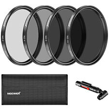 Neewer 52MM Neutral Density ND2 ND4 ND8 ND16 Lens Filter Accessory Kit