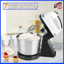 7 SPEED Electric Food Hand & Stand Mixer Baking Mixing Bowl Splash Guard UK FAST
