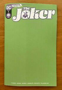 THE JOKER #1 Blank Variant DC NM