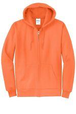 Mens Zip Up Hoodie Zippered Hooded Sweatshirt Heather Neon PC78ZH S-4XL