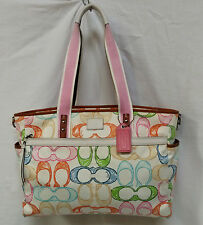 COACH 10676 SCRIBBLE MULTICOLOR SIGNATURE C MULTIFUNCTION DIAPER BAG TOTE