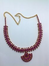 22KT Yellow Gold Signed LBB 15ct Ruby Necklace