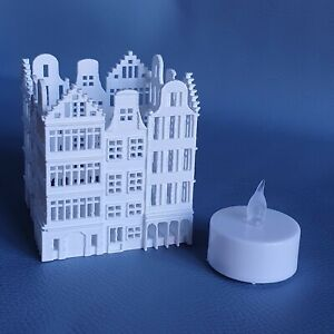 Amsterdam Canalside Houses Tea Light Candle Holder and flameless LED tealight