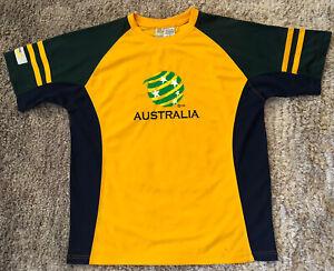 058 Australia Socceroos Soccer Jersey Shirt Cooper Sports Licensed Mens Size L