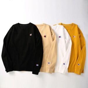 Neu Herren Damen Champion Sweatshirt Rundhals Pullover Sweater Lässiges Top
