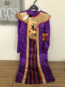 Kids Childs Boys King Wise Man Fancy Dress Costume Nativity Play Christmas 7-8yr