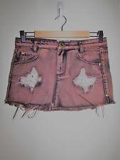 New ONE by ONE TEASPOON 'Sabbath Jax' Denim Mini Skirt Size 24 6 Small S BNWT