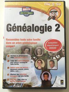 LOGICIEL PC NEUF **Généalogie 2** CREEZ VOTRE ARBRE GENEALOGIQUE