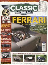 CLASSIC and SPORTSCAR 09/2007 FERRARI 250GT AUTO UNION FIAT 124 SPIDER JAG E-TYP