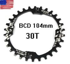 Single Narrow Wide Round Chainring Chain Ring Bcd 104mm 30T Mtb road Fixie bike