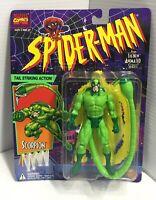 1994 Marvel Spider-Man Animated Series Scorpion Action Figure Toy Biz - NIB