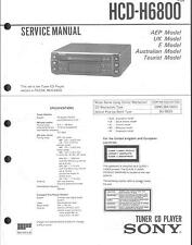 Sony original service manual pour HCD-H 6800
