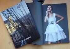 DOLCE & GABBANA Women's Collection Winter 2014 Catalogue,Bianca Balti  NEW