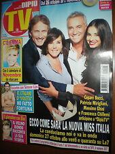 Dipiù Tv.Miss Italia, Cesare Bocci, Francesca Chillemi, Massimo Ghini,Sara Ricci