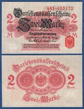 DARLEHENSKASSENSCHEIN 2 Mark 1914 KASSENFRISCH  Ro.52 b