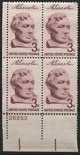 Scotts #1114 3c Lincoln Plate Block, Mnh