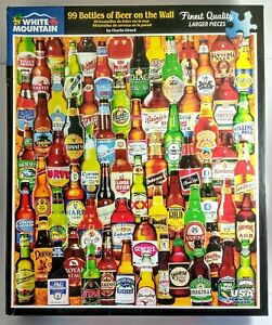 99 Bottles of Beer on the wall White Mountain 1000 piece Jigsaw Puzzle 61 x 76cm
