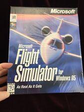 NEW SEALED - Microsoft Flight Simulator Version for Windows 95 PC BIG BOX