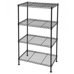 4-Shelf Adjustable Storage Shelving Unit Organizer Wire Rack Metal for Kitchen