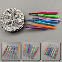 Sewing Tool Knitting Needles Plastic Handle Weave Craft Crochet Hooks Set DIY