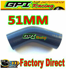 Silicone Hose 45 degree Bend Elbow 2inch 51mm Black Silicon Intake Tube pipe