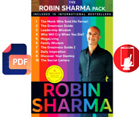 Robin Sharma Pack (10 Volume Set) +The 5AM club (DigitaI,Fast Delivery)