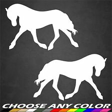 Horse Stickers Prancing Decal Vinyl Animal Farm Riding Cute Car Window Home