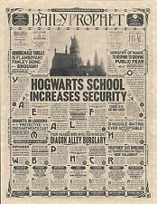 Harry Potter The Daily Prophet Hogwarts Increases Security Flyer Prop/Replica