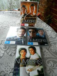 4 x DVD NUMB3RS Rob Morrow, David Krumholtz 1-2-4-5 SEASON 21 DISCS-PAL4 AS NEW