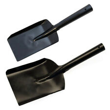 Coal Shovel Tool 100mm 170mm Black Steel Metal Dustpan Spade Traditional Scooper
