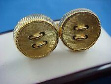 Cufflinks, 15.3 Grams, 20 Mm Diameter 18K Yellow Gold Rare Men'S Button